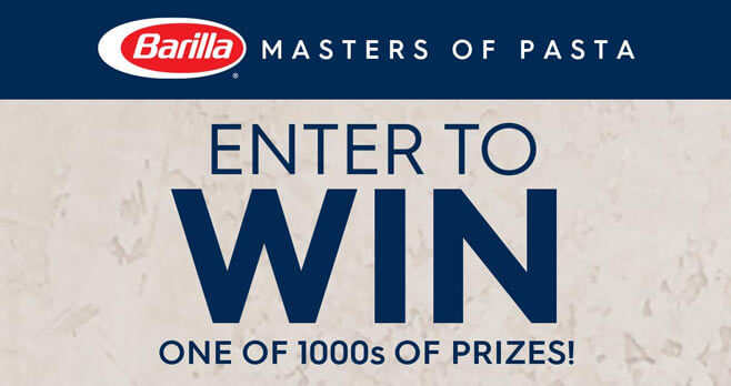 Barilla Masters of Pasta Sweepstakes and Instant Win Game