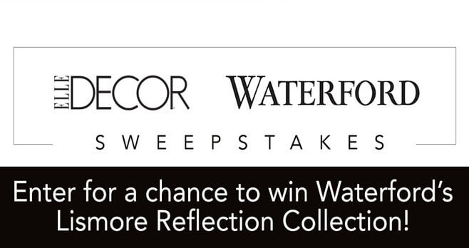 ELLE DECOR Waterford Sweepstakes (waterford.elledecor.com)