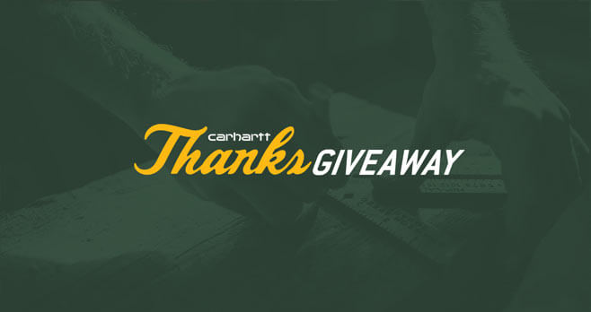 Carhartt Thanks Giveaway
