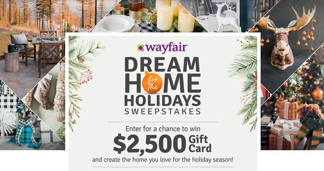 HGTV & Wayfair Dream Home for the Holidays Sweepstakes