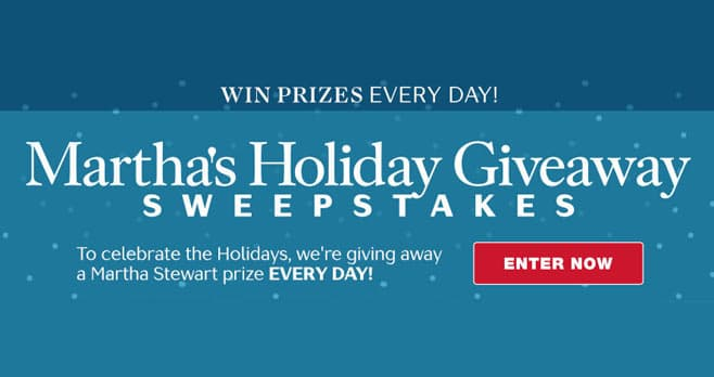 Martha Stewart Holiday Giveaway Sweepstakes