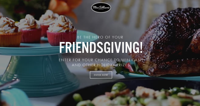 Mrs. Cubbison's Friendsgiving Sweepstakes