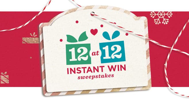 QVC 12 at 12 Instant Win Sweepstakes