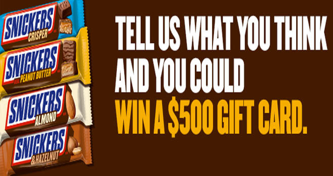 Snickers Feedback Hunger Satisfaction Survey Sweepstakes