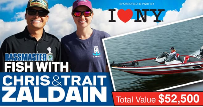 Bass Master Fish with Chris & Trait Zaldain Sweepstakes