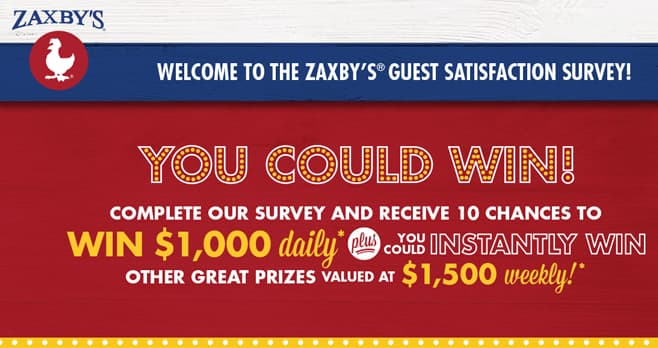 Zaxby's Survey Sweepstakes