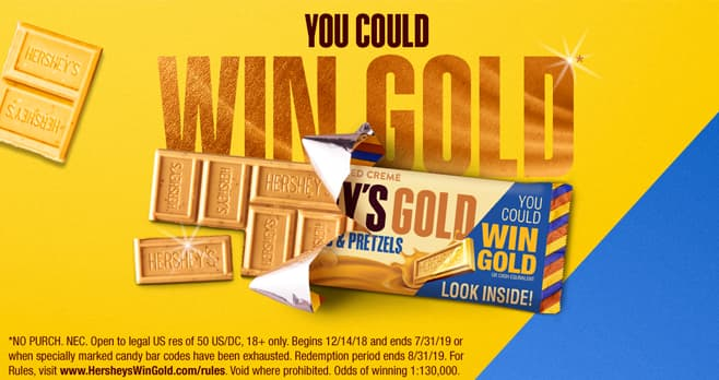 Hershey's Gold Rush Sweepstakes