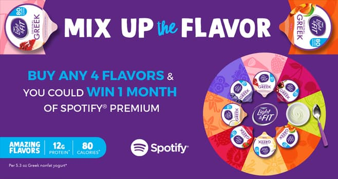 Dannon Light & Fit Mix Up the Flavor Sweepstakes