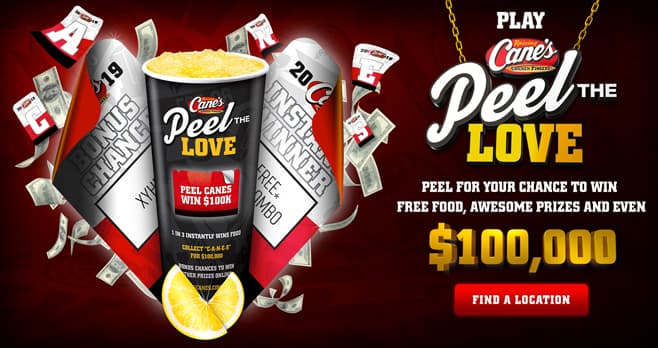 Raising Cane's Peel The Love Game