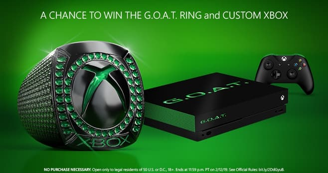 Xbox Madden NFL 19 G.O.A.T. Prize Pack Sweepstakes