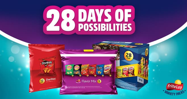 Frito-Lay Variety Packs 28 Days of Possibilities Sweepstakes