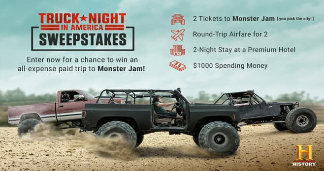 History Channel Truck Night In America Sweepstakes