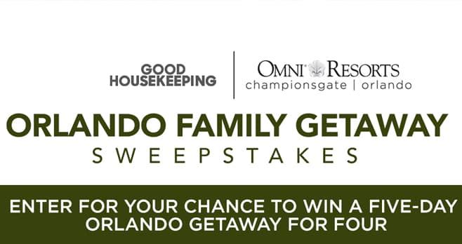 Good Housekeeping Omni Orlando Sweepstakes
