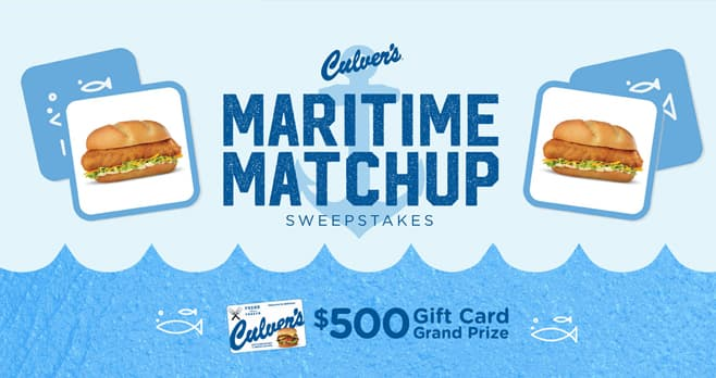 Culver's Maritime Matchup Sweepstakes