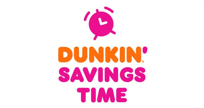 Dunkin' Savings Time Sweepstakes