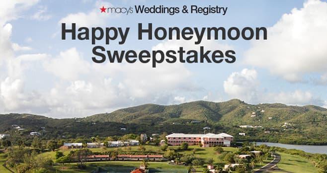 Macy's Wedding Registry Happy Honeymoon Sweepstakes (Macys.com/WeddingSweeps)