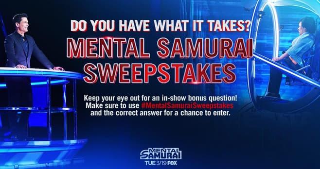 Mental Samurai Bonus Question Sweepstakes
