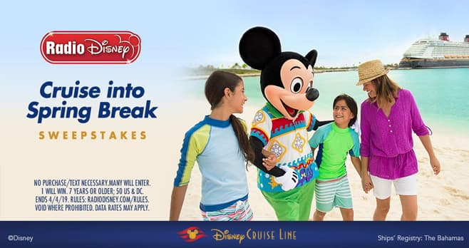 Radio Disney Cruise into Spring Break Sweepstakes