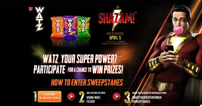 Barcel Watz Your Superpower Sweepstakes