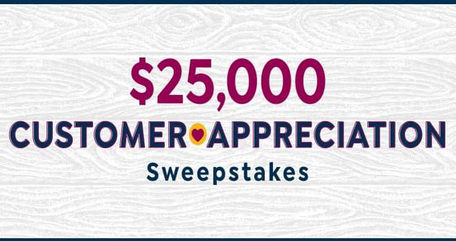 HSN $25,000 Customer Appreciation Sweepstakes