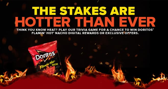 Kroger and DORITOS Flamin' Hot Instant Win Game (Kroger.com/Doritos)