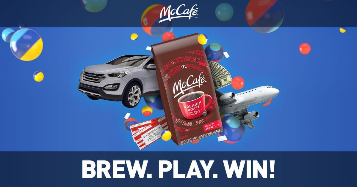 McDonald's McCafé Instant Win (McCafeInstantWin.com)