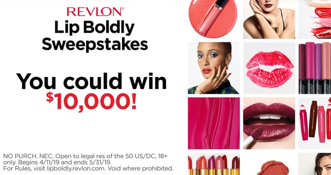 Revlon LipBoldly Sweepstakes and Instant Win Game