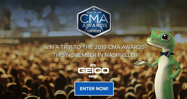 Road to the CMA Awards Driven by GEICO Sweepstakes