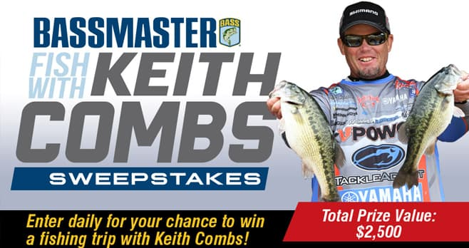 Bassmaster Fish with Keith Combs Sweepstakes