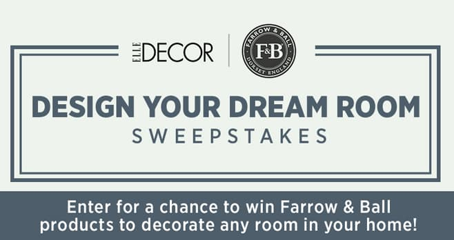 ELLE DECOR Farrow & Ball Sweepstakes