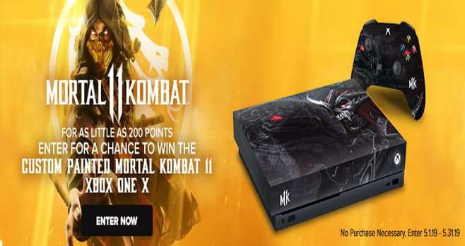 GameStop PowerUp Rewards Mortal Kombat 11 Sweepstakes