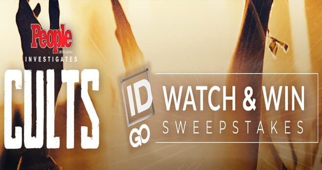 Investigation Discovery Cults Giveaway (InvestigationDiscovery.com/CultsGiveaway)