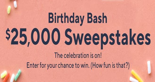 QVC Birthday Bash $25,000 Sweepstakes (QVC.com/Sweepstakes)