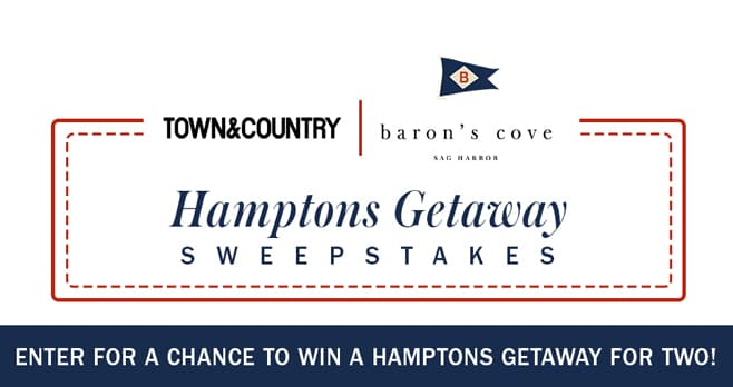 Town & Country Baron's Cove Hamptons Sweepstakes