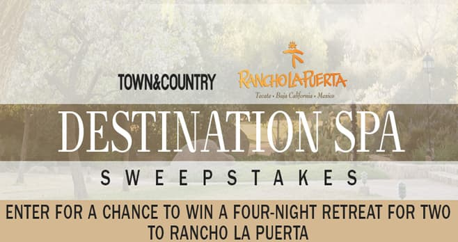Town & Country Rancho La Puerta Sweepstakes