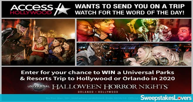 Access Hollywood Universal Contest 2019