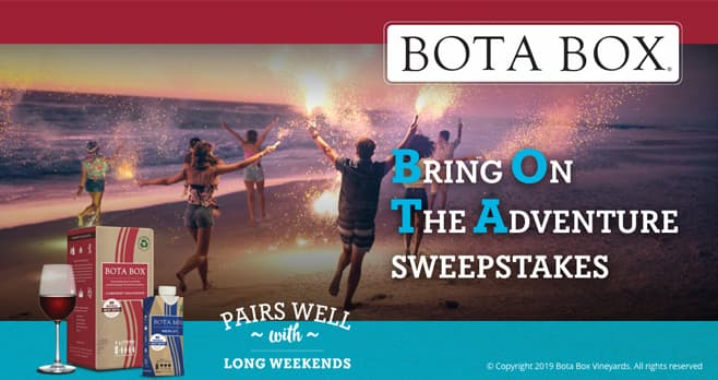 Win The Bota Box Bring on the Adventure Summer Sweepstakes