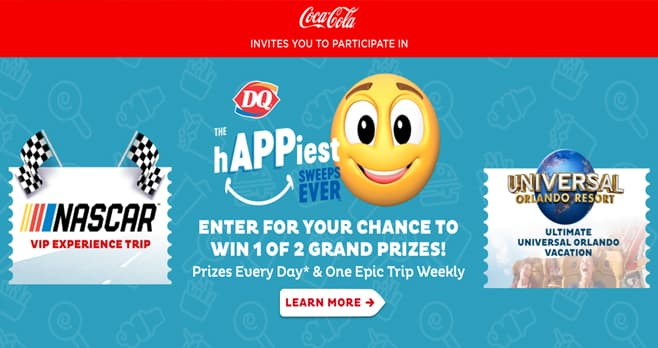 DQ The hAPPiest Sweeps Ever Sweepstakes