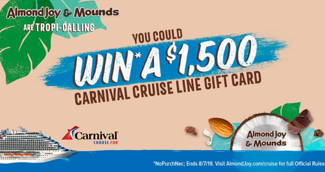 Hershey's Almond Joy Cruise Sweepstakes