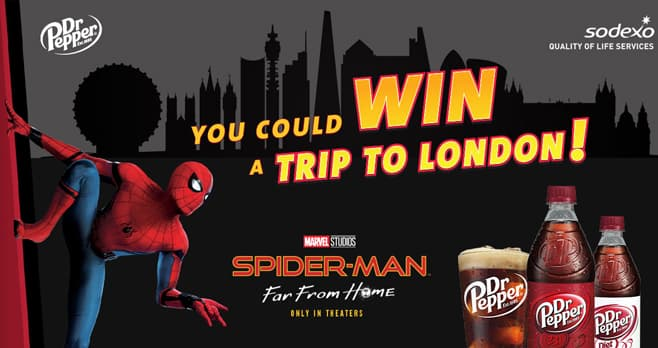 Sodexo Dr Pepper Spider-Man Far From Home Sweepstakes & Instant Win Game (SodexoDrPepper.com)