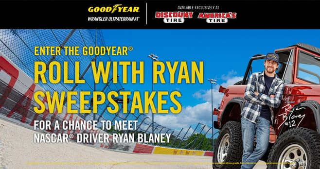 Goodyear Roll with Ryan Sweepstakes