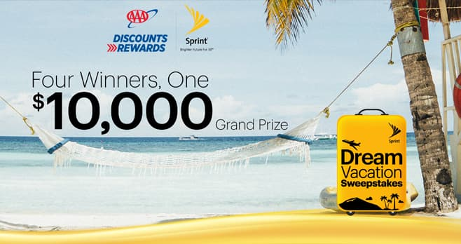 Sprint AAA Dream Vacation Sweepstakes