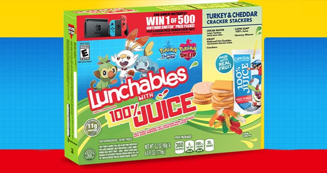 Lunchables Nintendo Switch Sweepstakes (LunchablesSweepstakes.com)