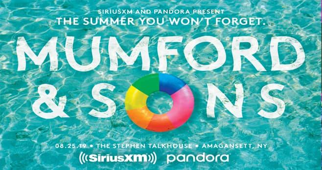 SiriusXM Mumford & Sons Sweepstakes