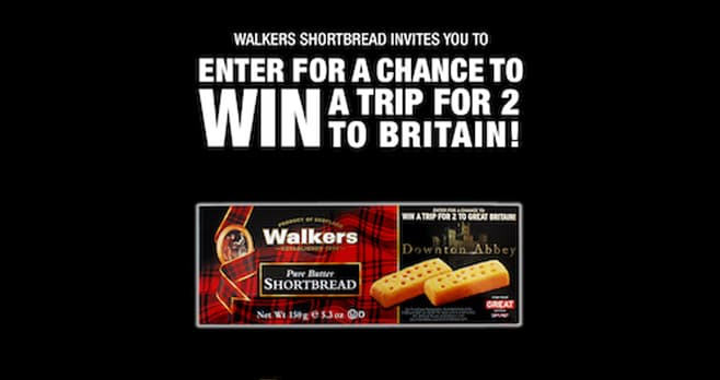 Walkers Shortbread Downton Abbey Sweepstakes