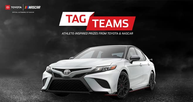Toyota Tag Teams Monster Energy NASCAR Cup Series Sweepstakes