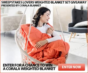 Sweepstakes Lovers Weighted Blanket Set Giveaway