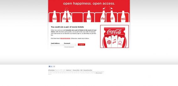 2013 Coca-Cola Open Happiness. Open Access Movie Ticket Instant Win