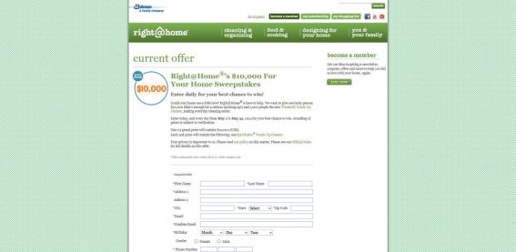 Right@Home's $10,000 For Your Home Sweepstakes