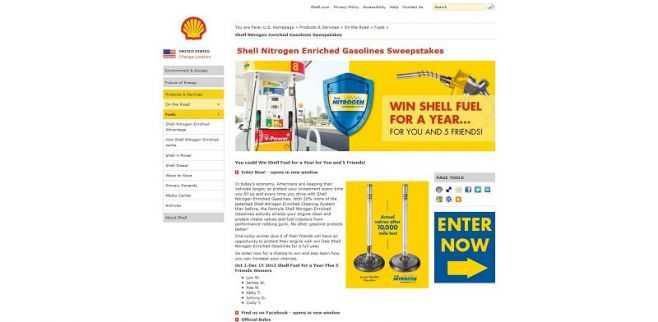 www.shell.us/fuelpromo – Shell Fuel For a Year Promotion